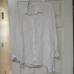 Chicos ivory sheer blouse size 3